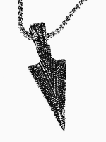 Medieval Style antiqued Arrow Necklace
