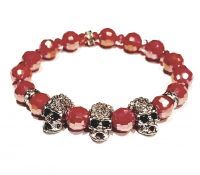 Red Crystal Skull Bracelet