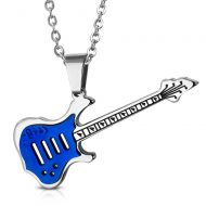 Blue Guitar Necklace