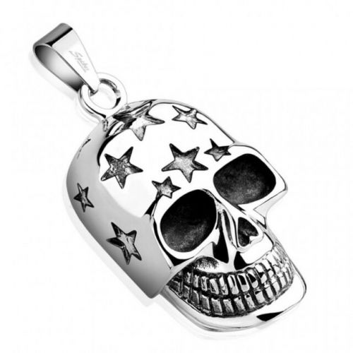 Skull Necklace with Stars